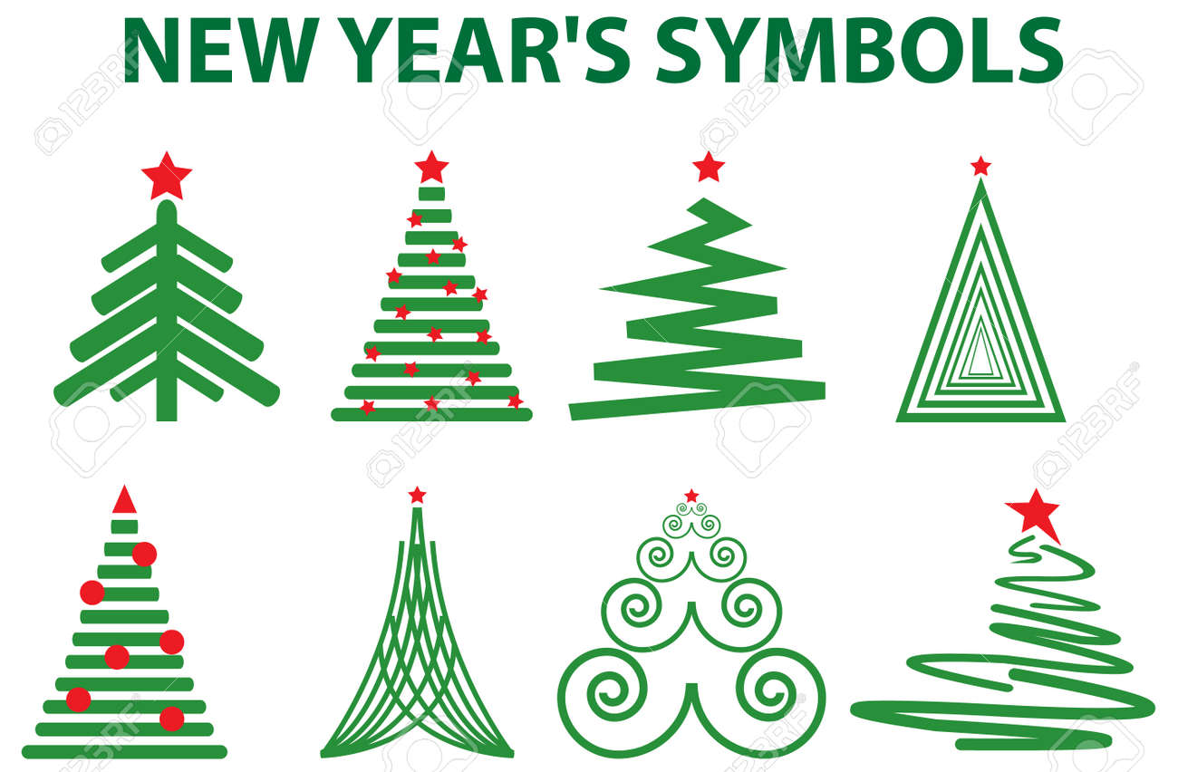 New year's symbols. Vector illustration for you design Stock Vector - 8199254