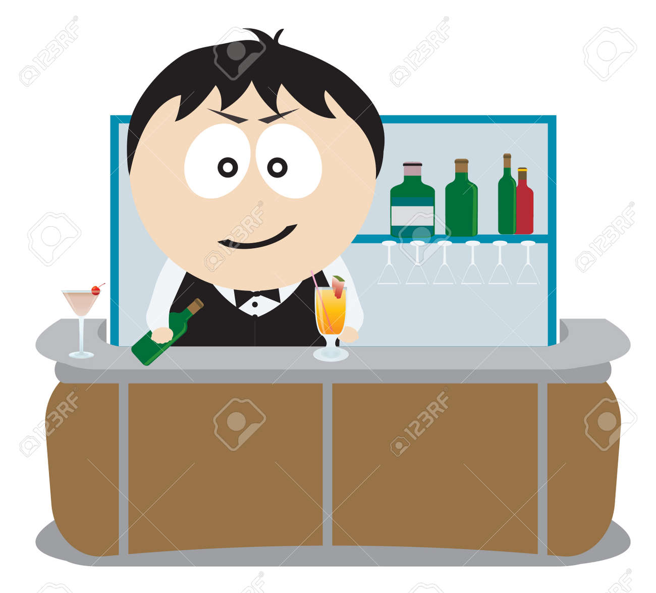 Barman. Stock Vector - 8532418
