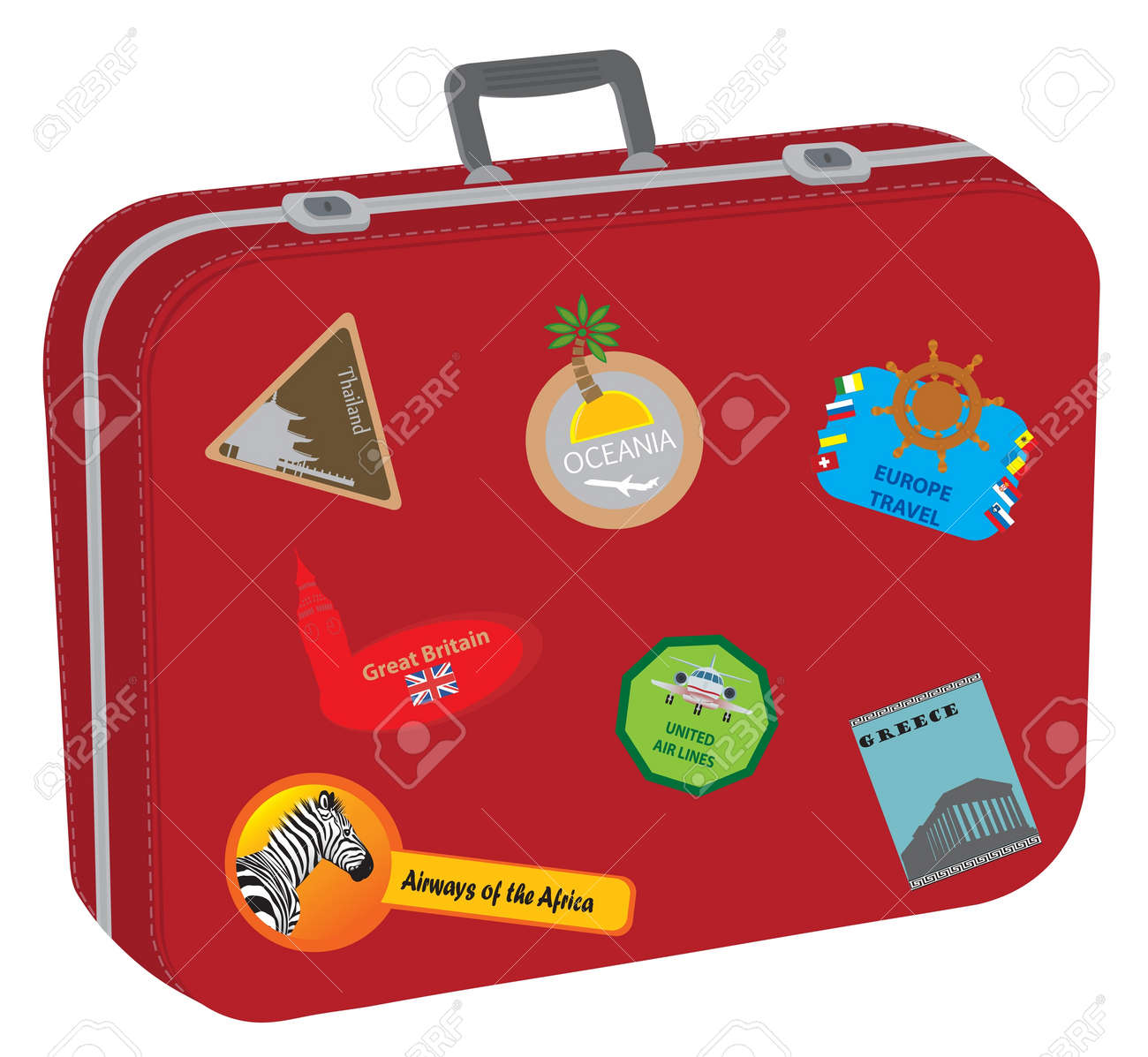Suitcase. Baggage of the tourist after big travel Stock Vector - 11956981