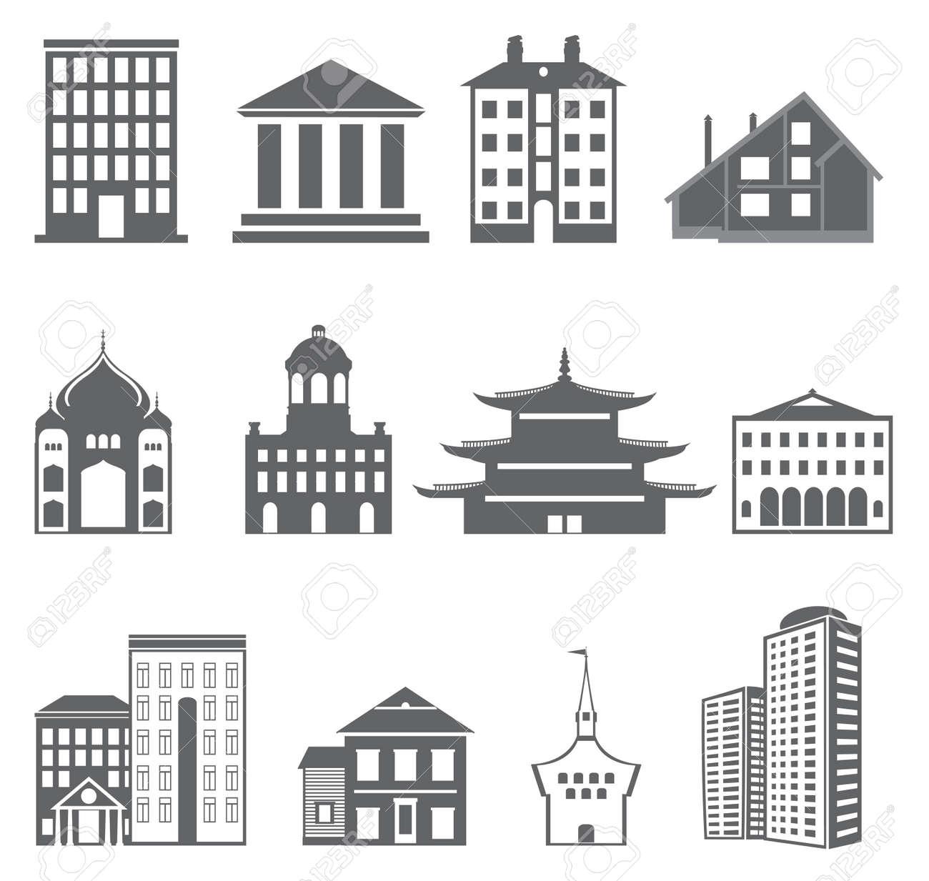 Buildings. Vector set Stock Vector - 16617426