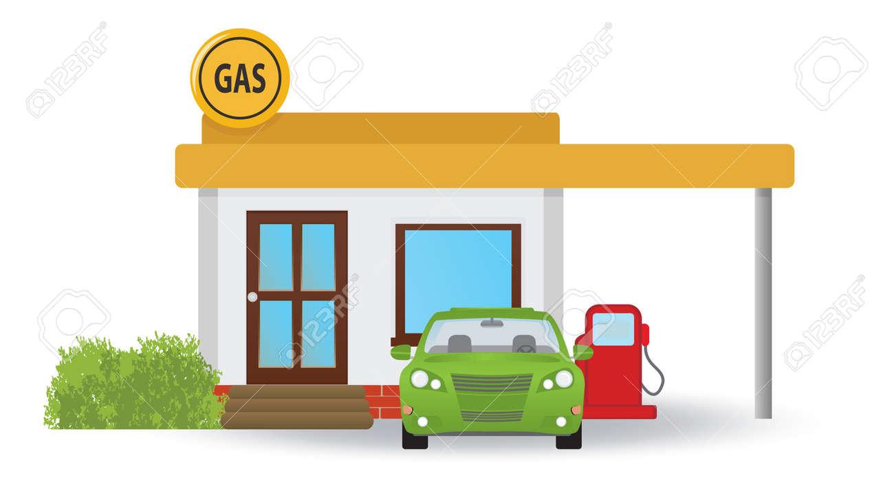 Gas station.  illustration Stock Vector - 17009643