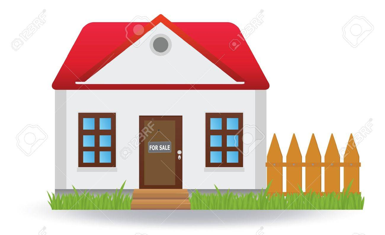 House for sale.  illustration Stock Vector - 17009630
