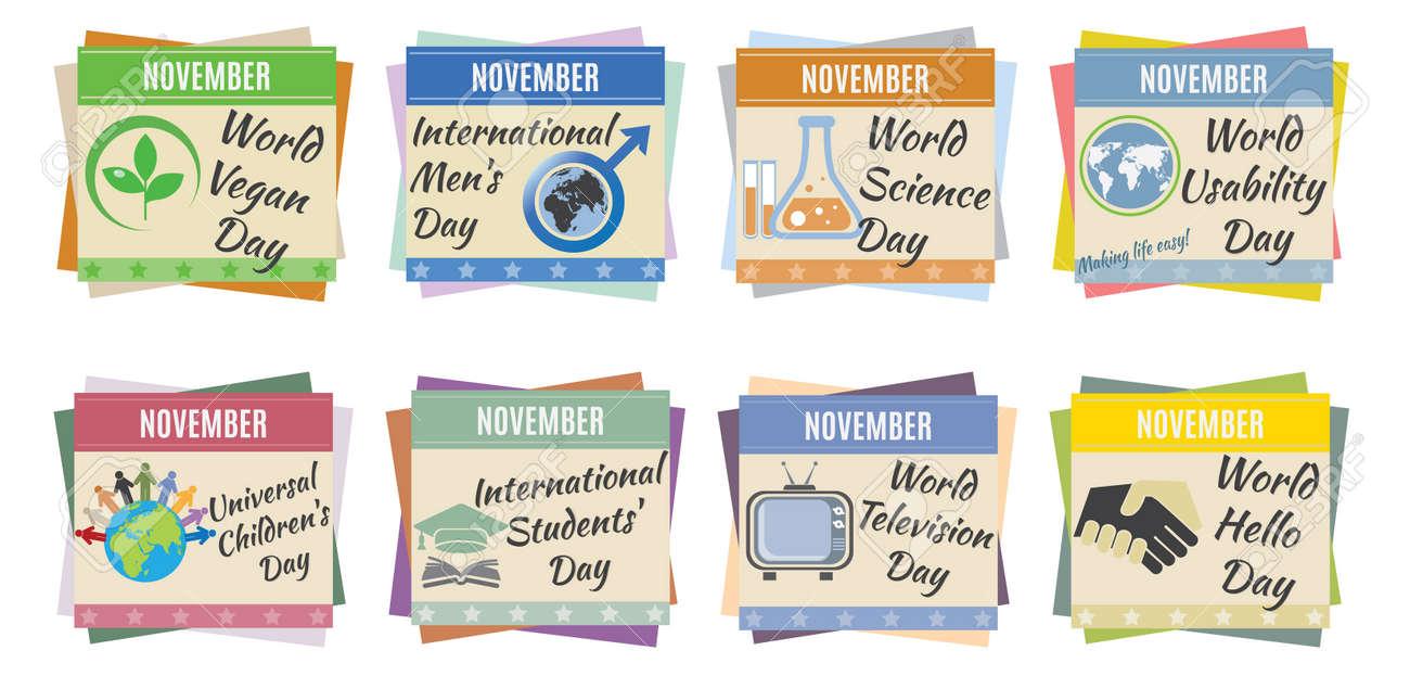 World holidays  November  For you design Stock Vector - 23207495