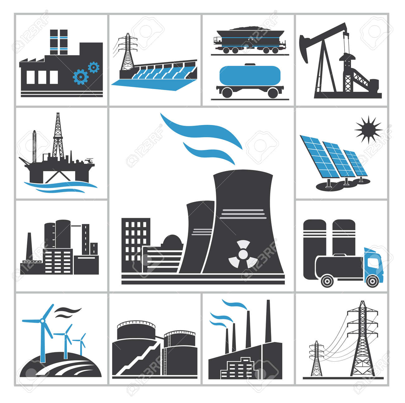 Power icons Vector set for you design - 24188160