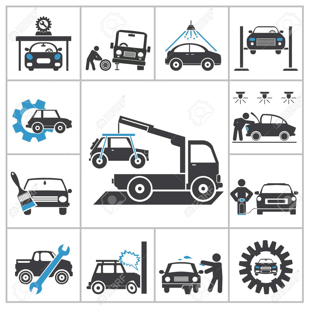 Design car repair workshop - Auto Repair Icons Vector Set For You Design Stock Vector 24541246