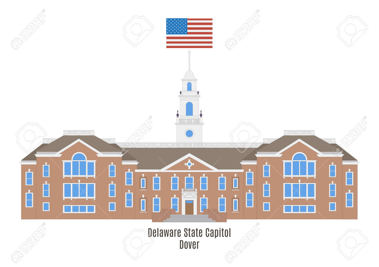 ドーバー、米国でデラウェア州議会議事堂 ロイヤリティフリークリップ