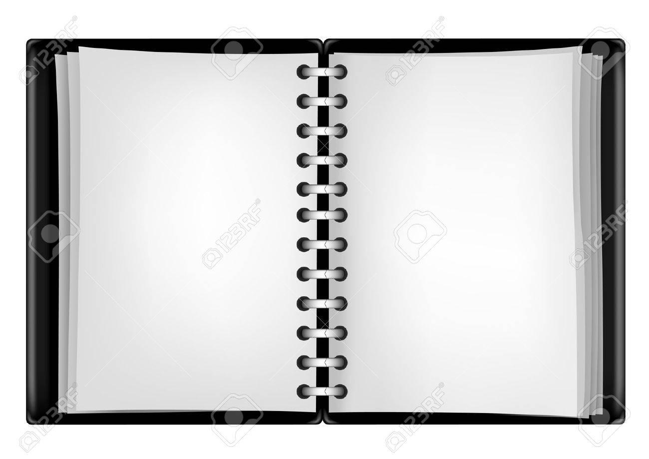 black notepad Stock Vector - 8720827