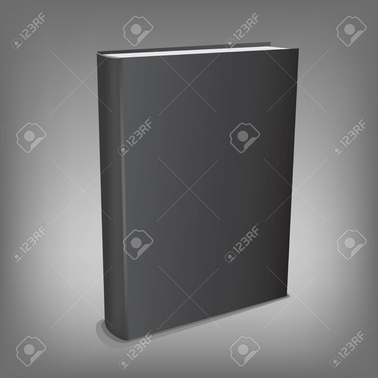 The black realistic book isolated on the gray mesh background Stock Vector - 23828639