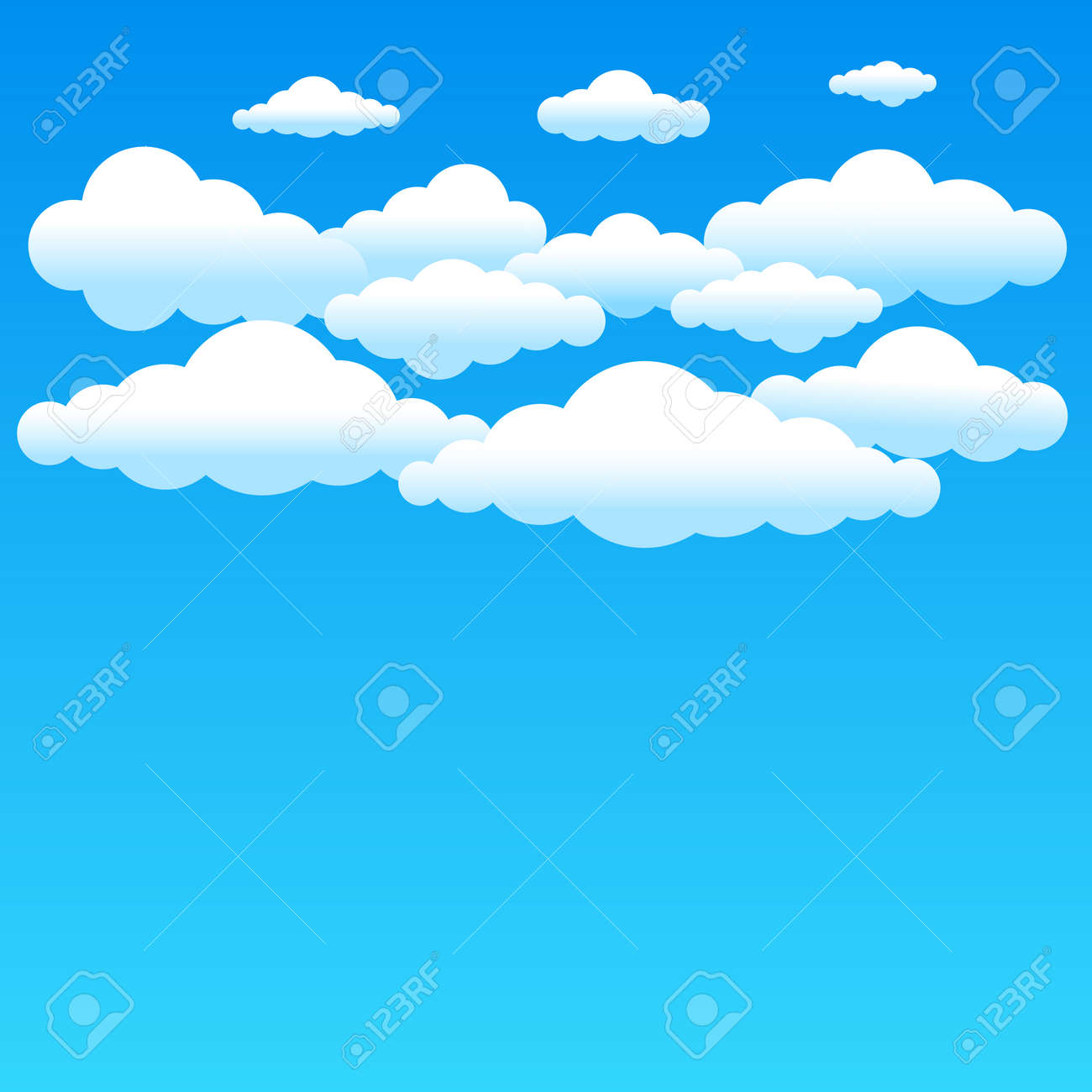 cartoon cloudy background on blue sky simple gradient clouds rh 123rf com cartoon sky background photoshop cartoon sky background photoshop