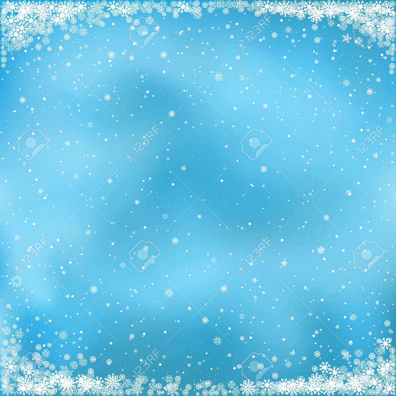 Weihnachten Und Winter Clipart Der Fallende Weiße Schnee Auf Blauem
