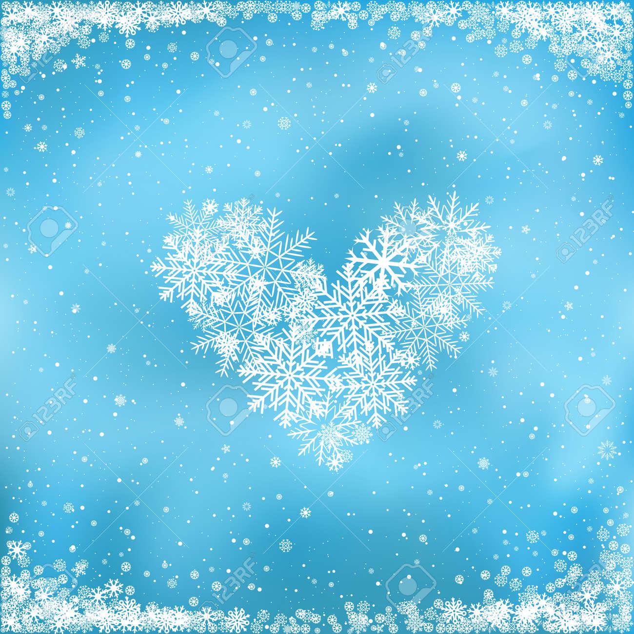 Liebe Weihnachten. Der Fallende Weiße Schnee Macht Das Herz Auf ...