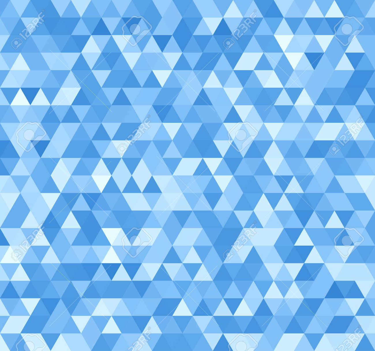 Blue Seamless Triangle Abstract Background  Vector Pattern of