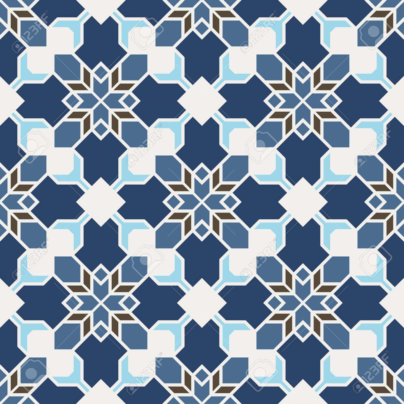 Abstract Seamless Geometric Islamic Wallpaper  Vector Arabic