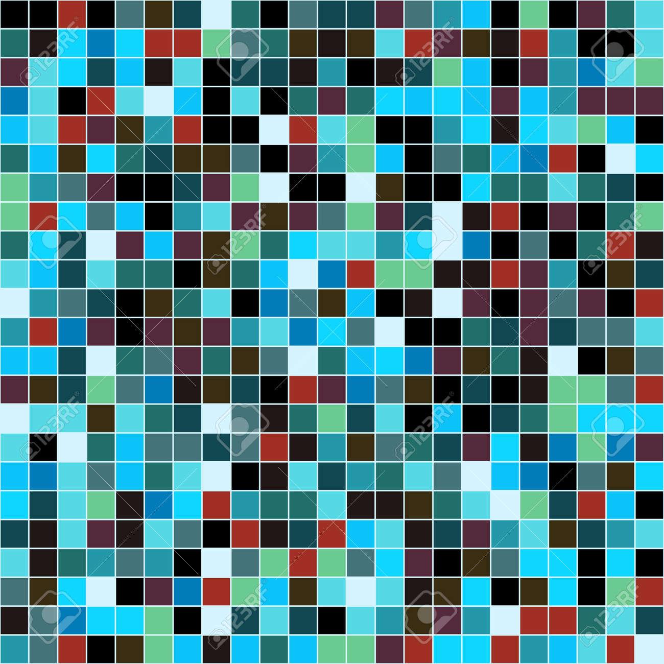 Les Carreaux De Mosaïque Modèle De Vecteur De Texture Pixel Carré De Fond Sans Soudure