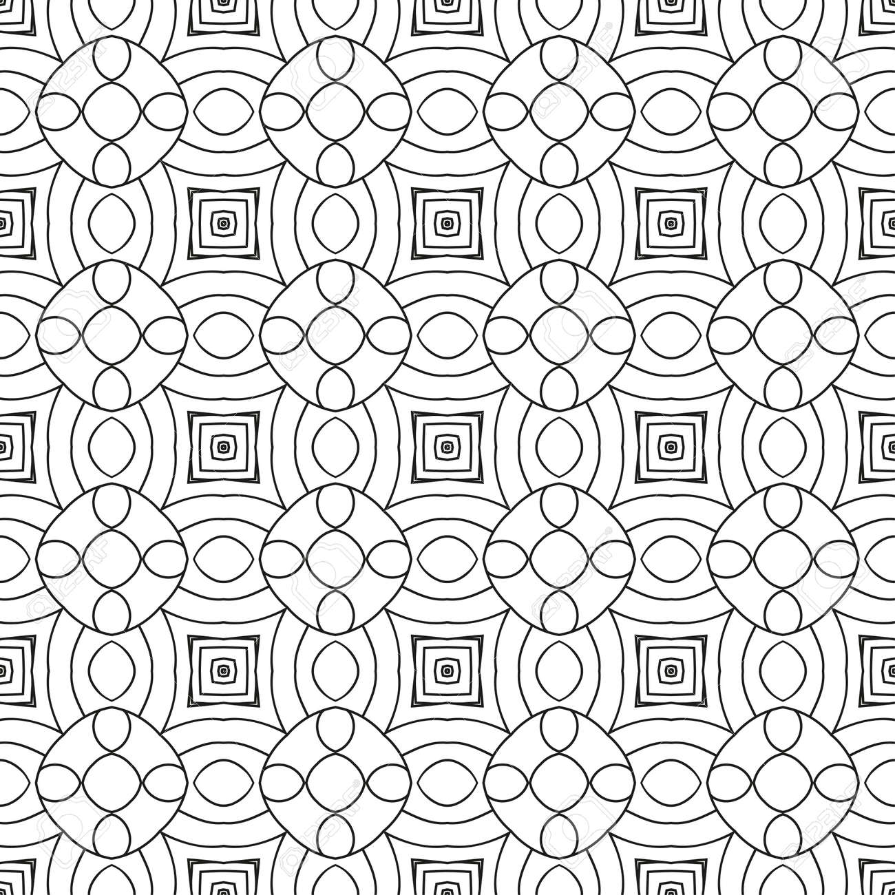Vector Black White Seamless Wallpaper Vintage Pattern Retro