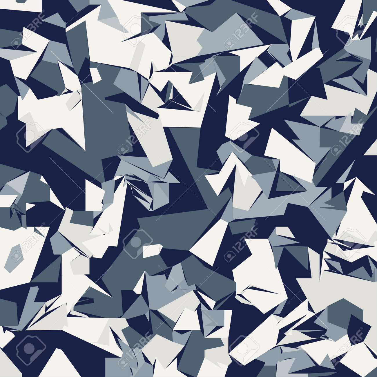 abstract vector blue military camouflage background pattern