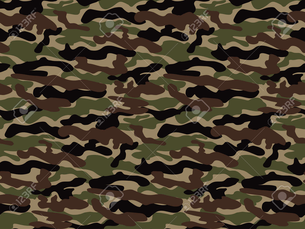 abstract vector military camouflage background seamless camo