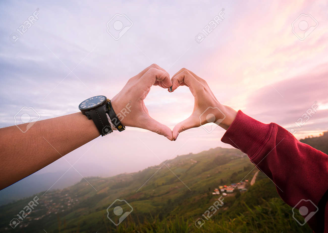 design of a heart shape with a beautiful love. To travel together forever. Sweet