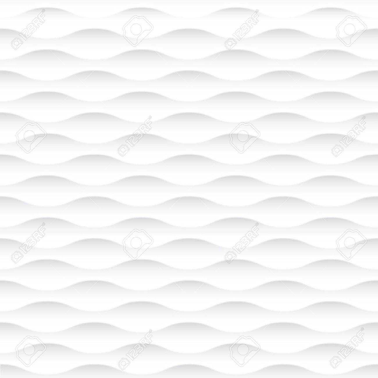 Interior Wall Decoration. 3D Vector Interior Wall Panel Pattern. Vector  White Background Of Abstract Waves.