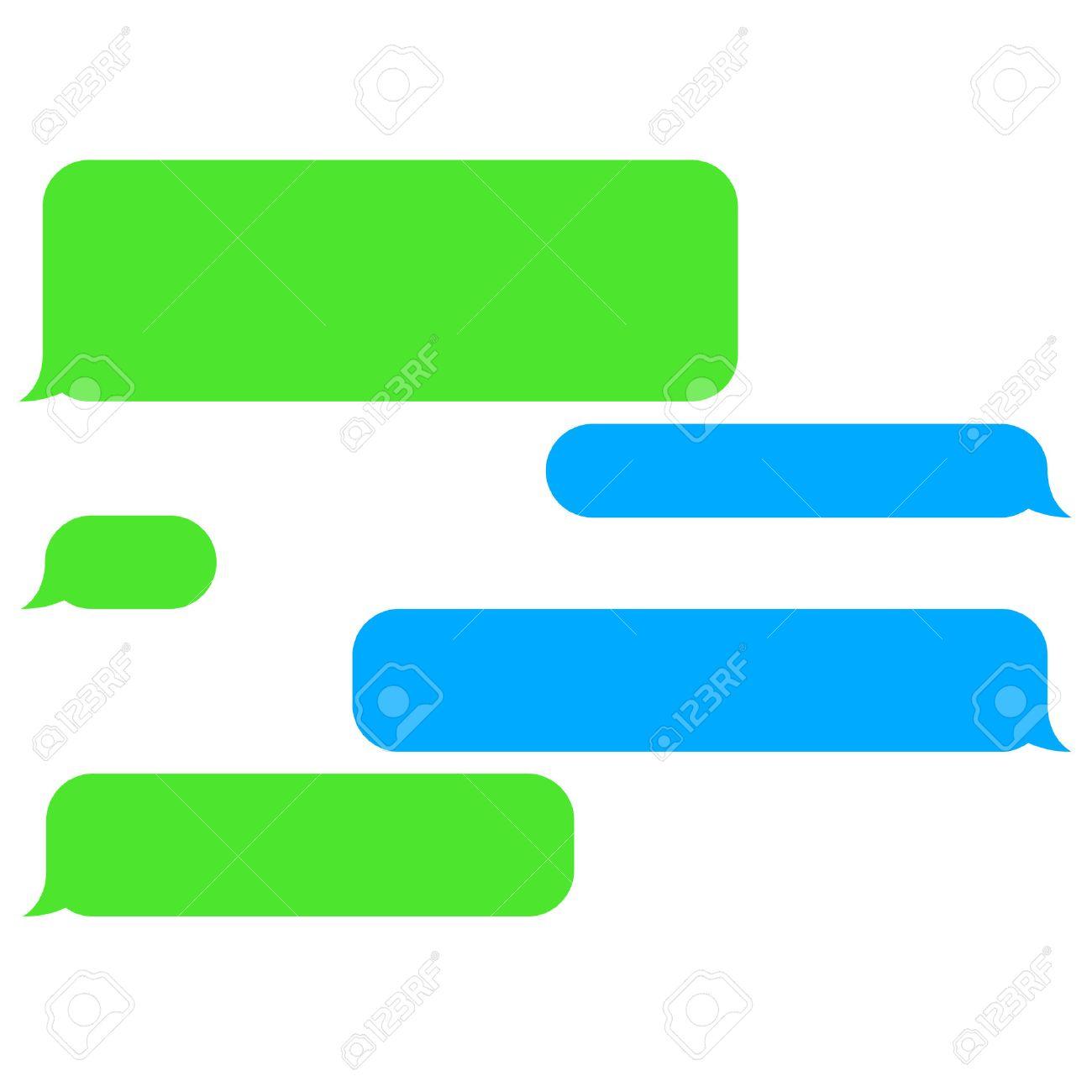 vector flat phone chat bubbles sms messages speech bubbles