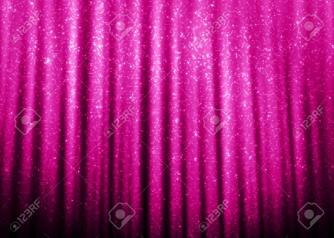 Pink Sparkle Glitter Curtains Background Stock Photo