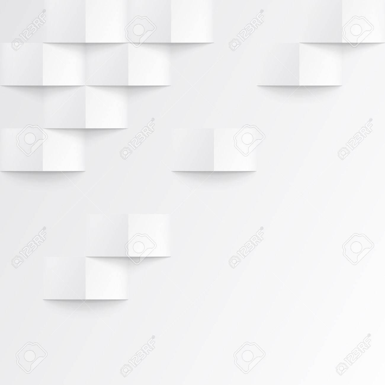 Weiß Nahtlose Geometrische Textur. Innen Polygonalen Wandplatte Muster.  Standard Bild   46812009