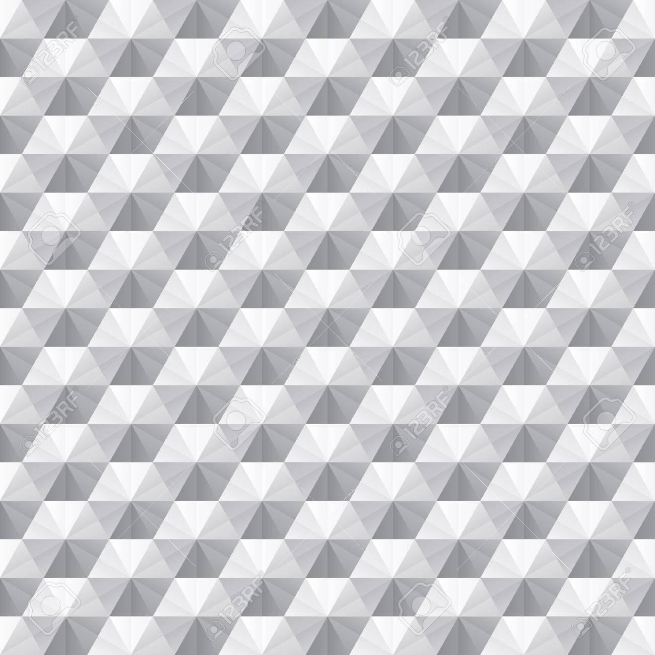 Superb Weiß Grau Nahtlose Geometrische Textur. Innen Polygonalen Wandplatte  Muster. Standard Bild   46812034