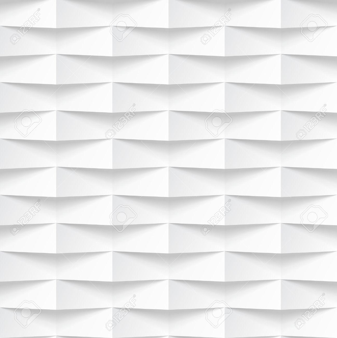 Banco De Imagens   White Seamless Texture. Wavy Background. Interior Wall  Decoration. Vector Interior Panel Pattern.
