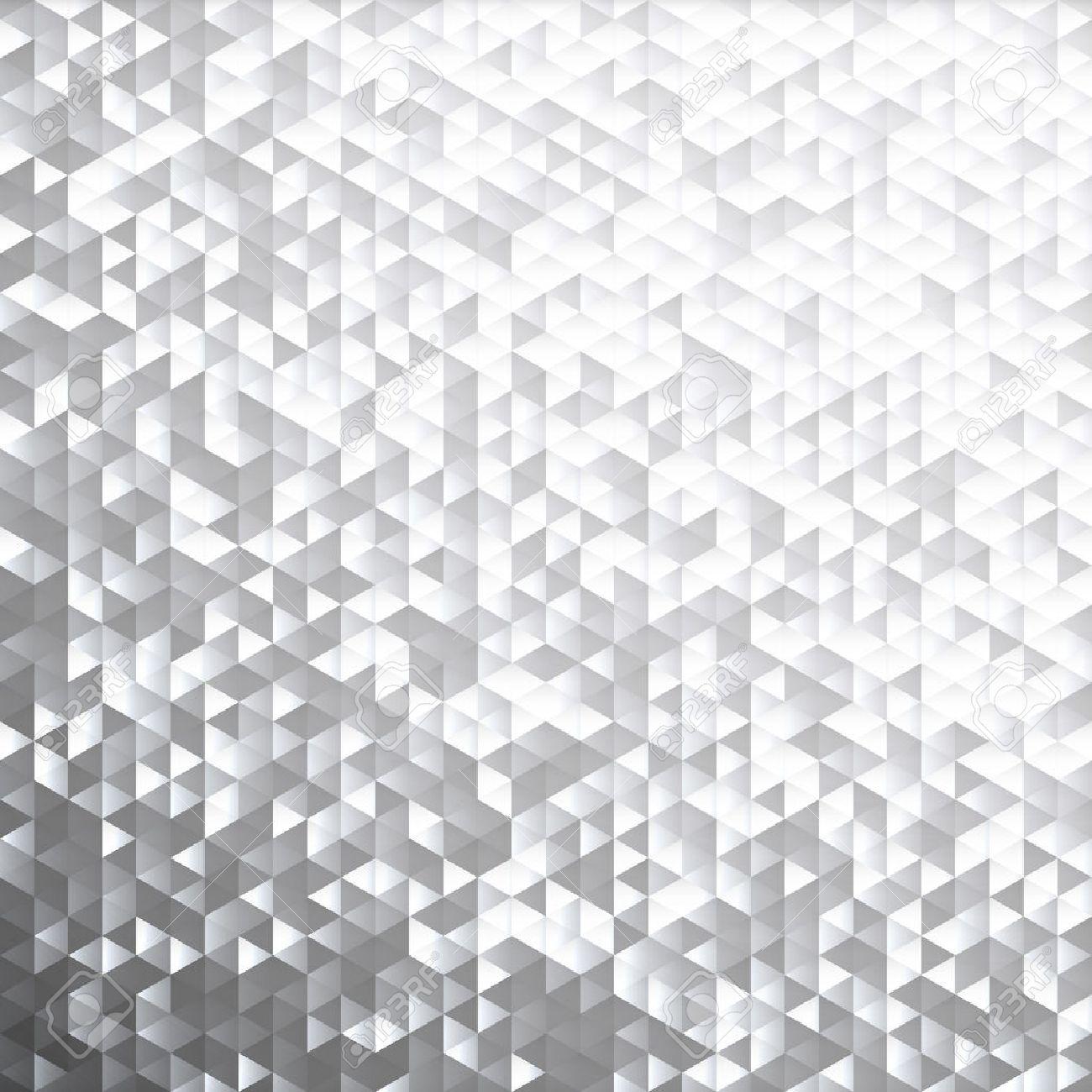 Silver gray glittering lamina sequins mosaic angular dimensional pattern. - 47417974