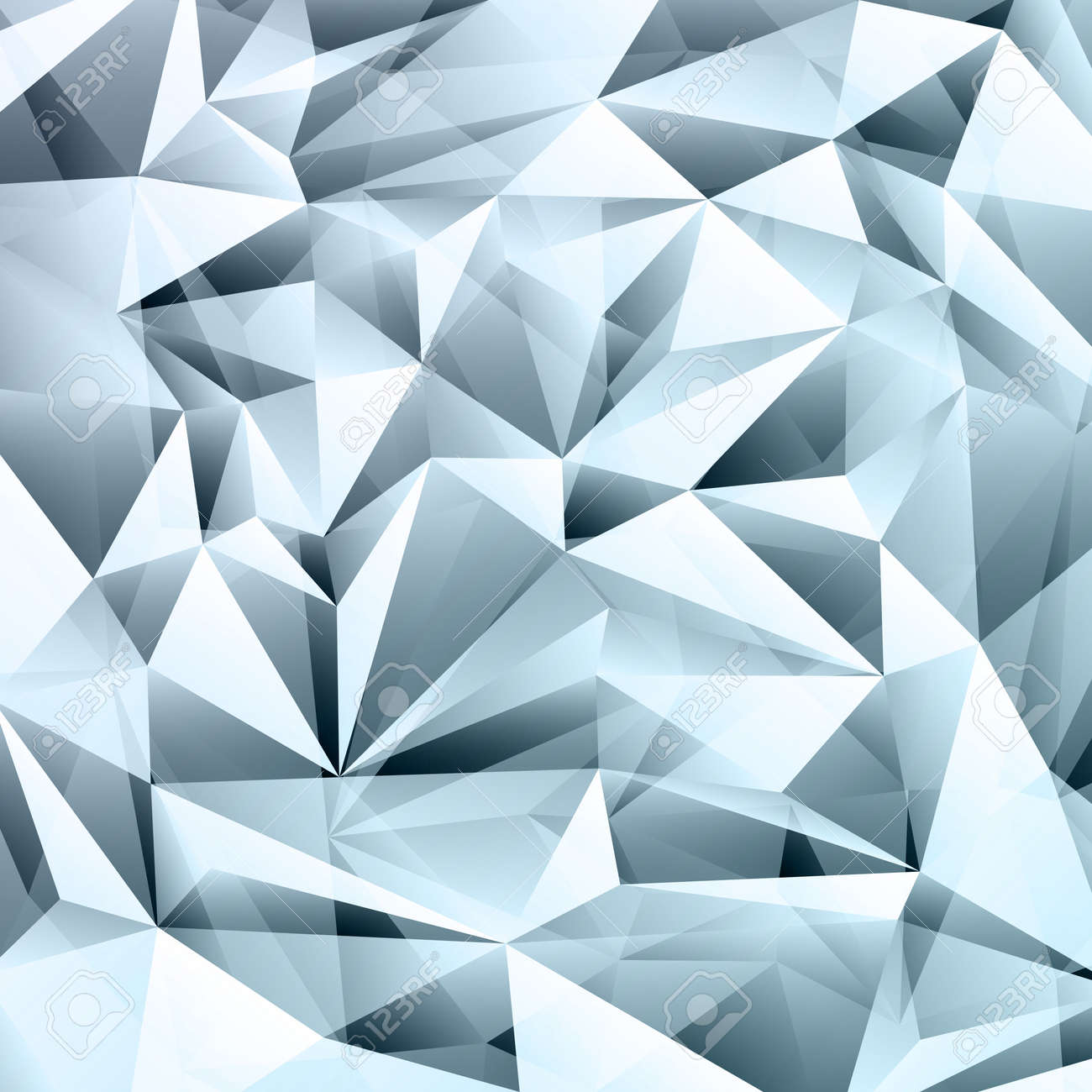 Blue abstract crystal fractals texture background Stock Vector - 47831995
