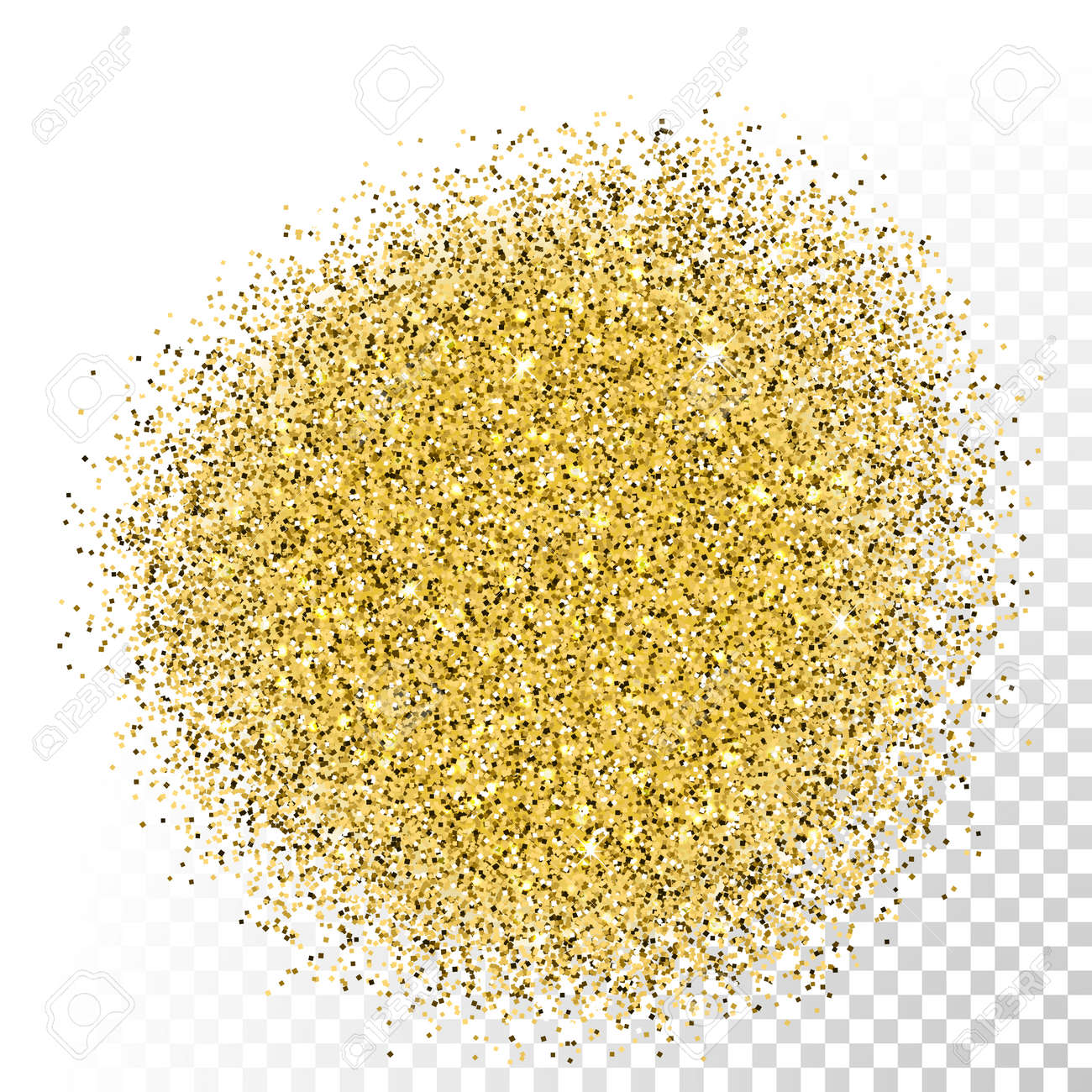 Gold glitter bright vector transparent background golden sparkles - Vector Vector Gold Glitter Texture Gold Sparkles On Transparent Background