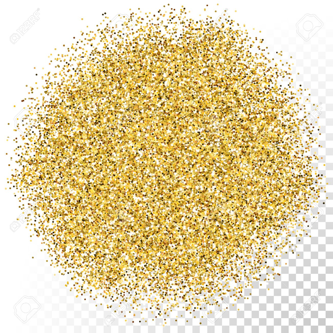 Gold glitter bright vector transparent background golden sparkles - Vector Gold Scattered Glitter Particles Texture On Transparent Background Stock Vector 49962727