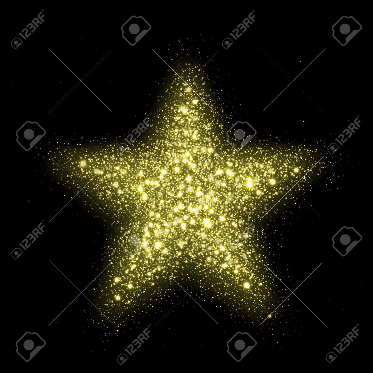 おしゃれな星 lensflare 輝きをベクトル空間で。暗黒宇宙銀河背景に粒子