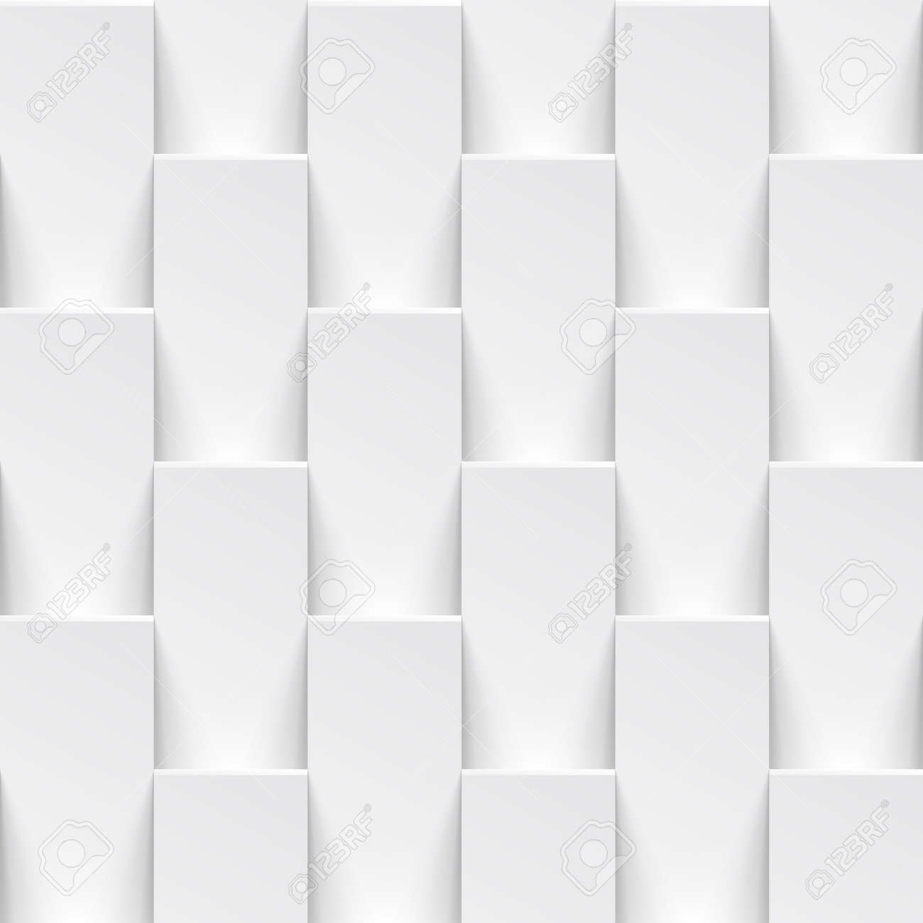 Vector White Tile Pattern Panel Background. Seamless Geometric ...