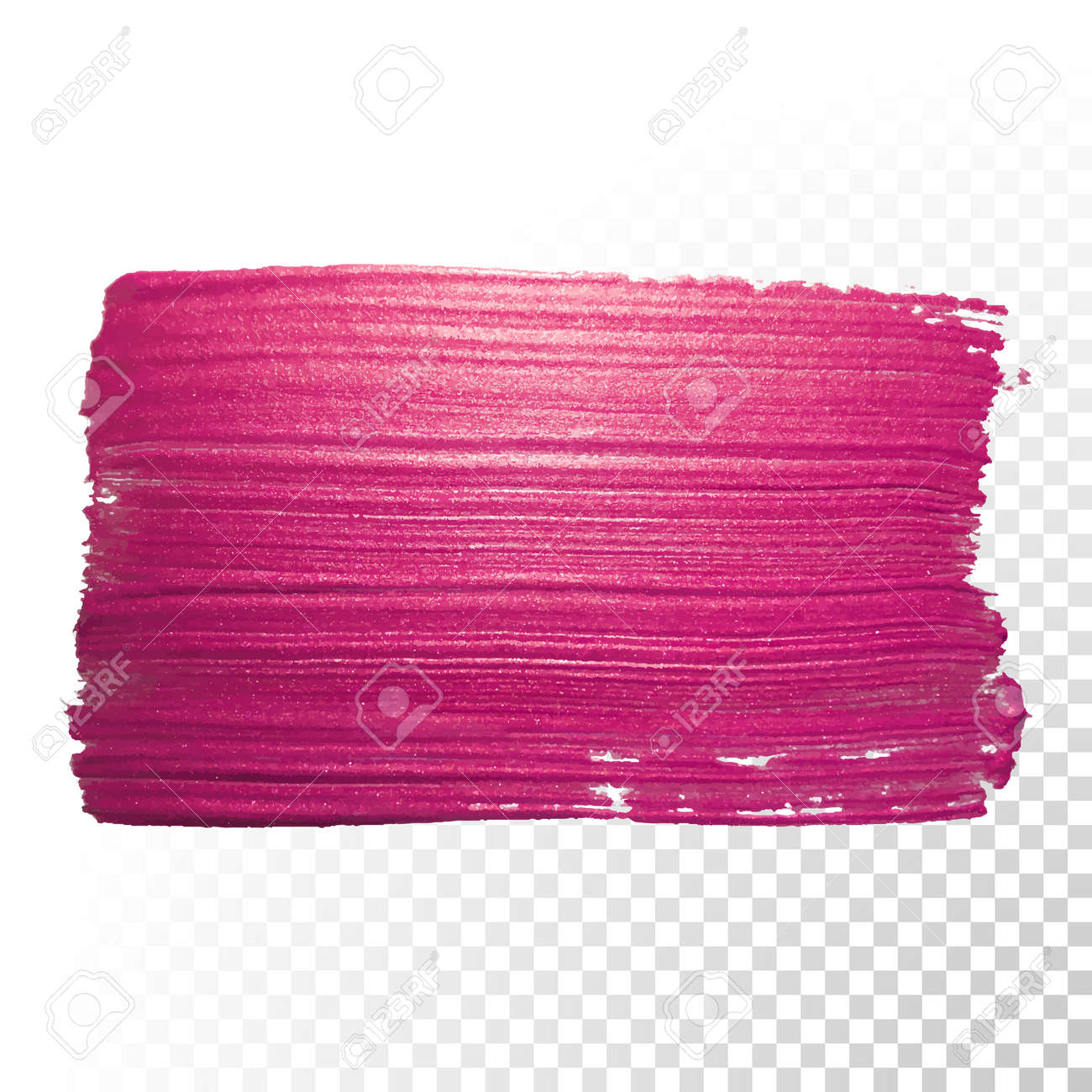 Vector pink watercolor brush stroke. Abstract polish splash trace shape. Red oil paint smear line on transparent background - 52868130