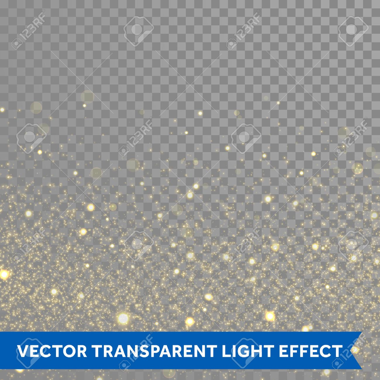 Vector gold glitter particles background effect for luxury greeting rich card. Sparkling glamour fashion texture. Star dust sparks in explosion on black background. - 52889856