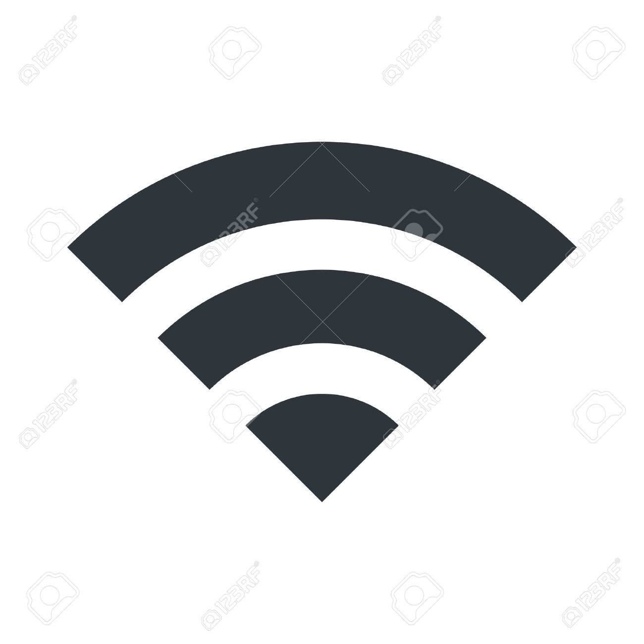 WIFI icon for signal connection symbol. Vector Illustration design. - 53746725