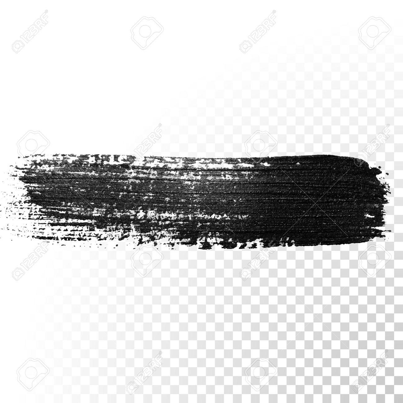 Black watercolor brush stroke  Highlighter marker glossy dab