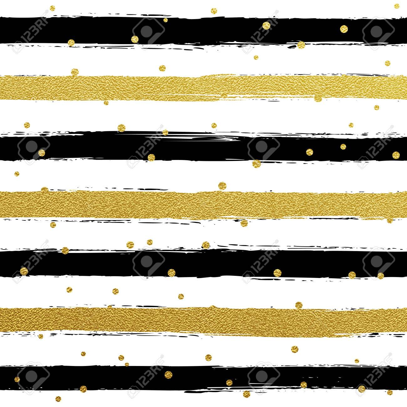 Glitter Gold Striped Wallpaper Paint Brush Strokes Background Royalty Free Cliparts Vectors And Stock Illustration Image 57341637