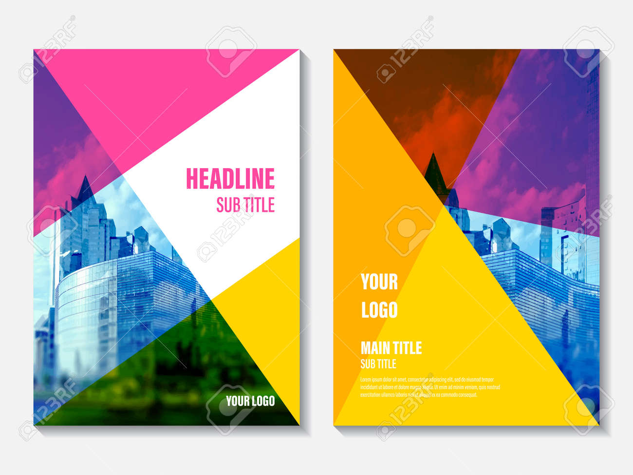 Vector Informe Anual Cubre El Diseño. Actividad Empresarial ...