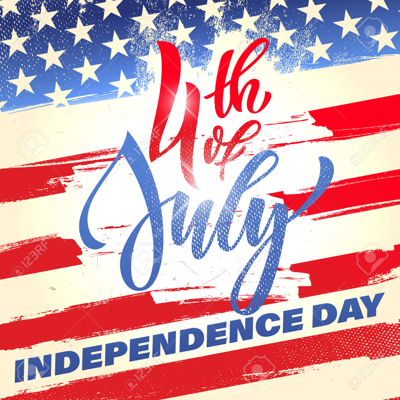 Fourth Of July Usa Independence Day Greeting Card 4 July America