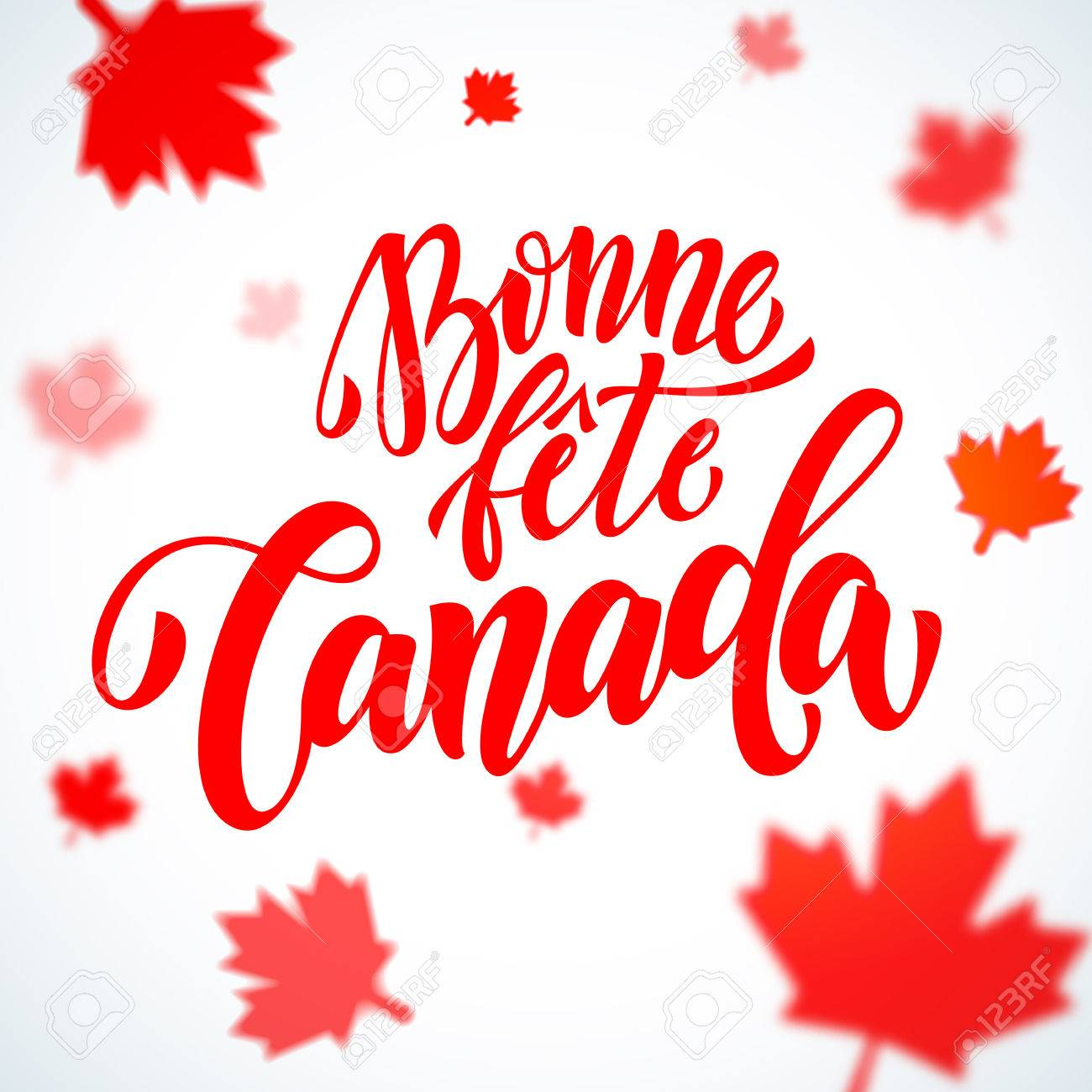 Clipart Bonne Fête bonne fete du canada in french. happy canada day calligraphy