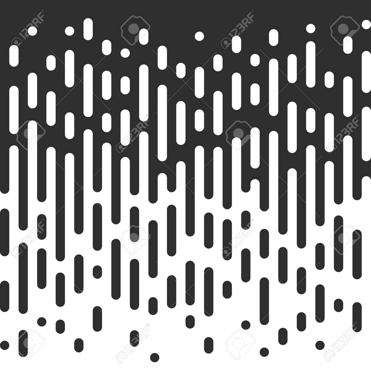 vector halftone transition abstract wallpaper pattern seamless black and white irregular rounded lines background