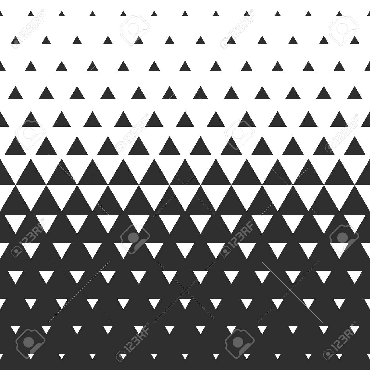Vector Halftone Abstract Transition Triangular Pattern Wallpaper