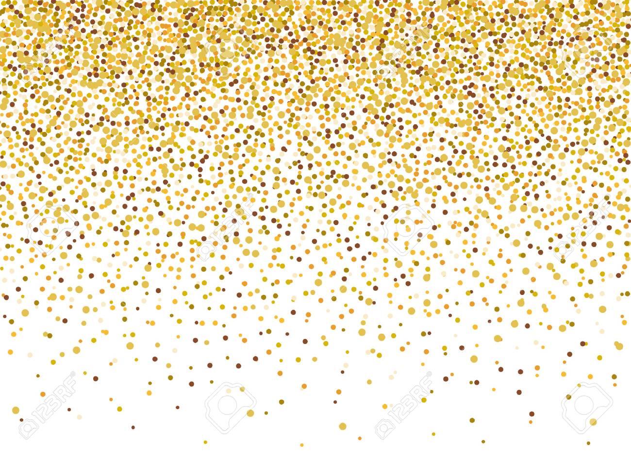 gold glitter confetti frame for festive greeting card template
