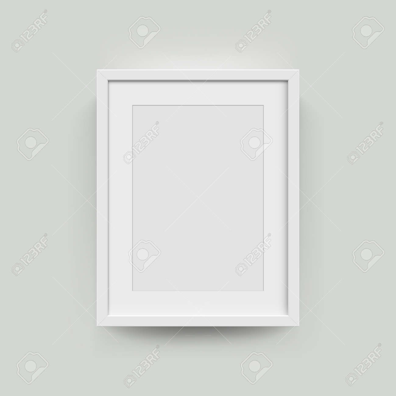Picture Frame For Photographs. Vector Realisitc Paper Or Plastic ...