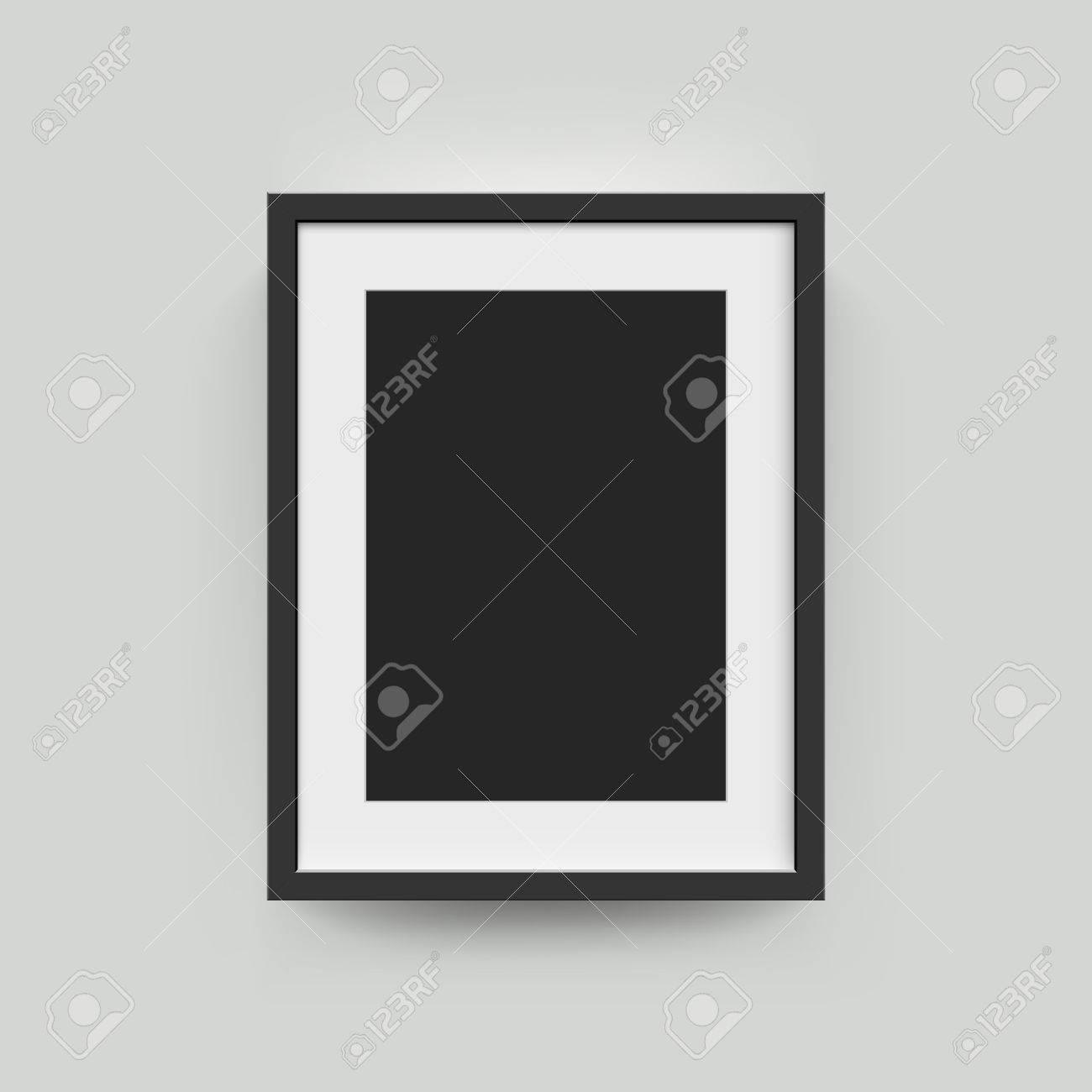 Marco De Imagen Para Fotografías. Papel Realisitc Vector O Estera De ...