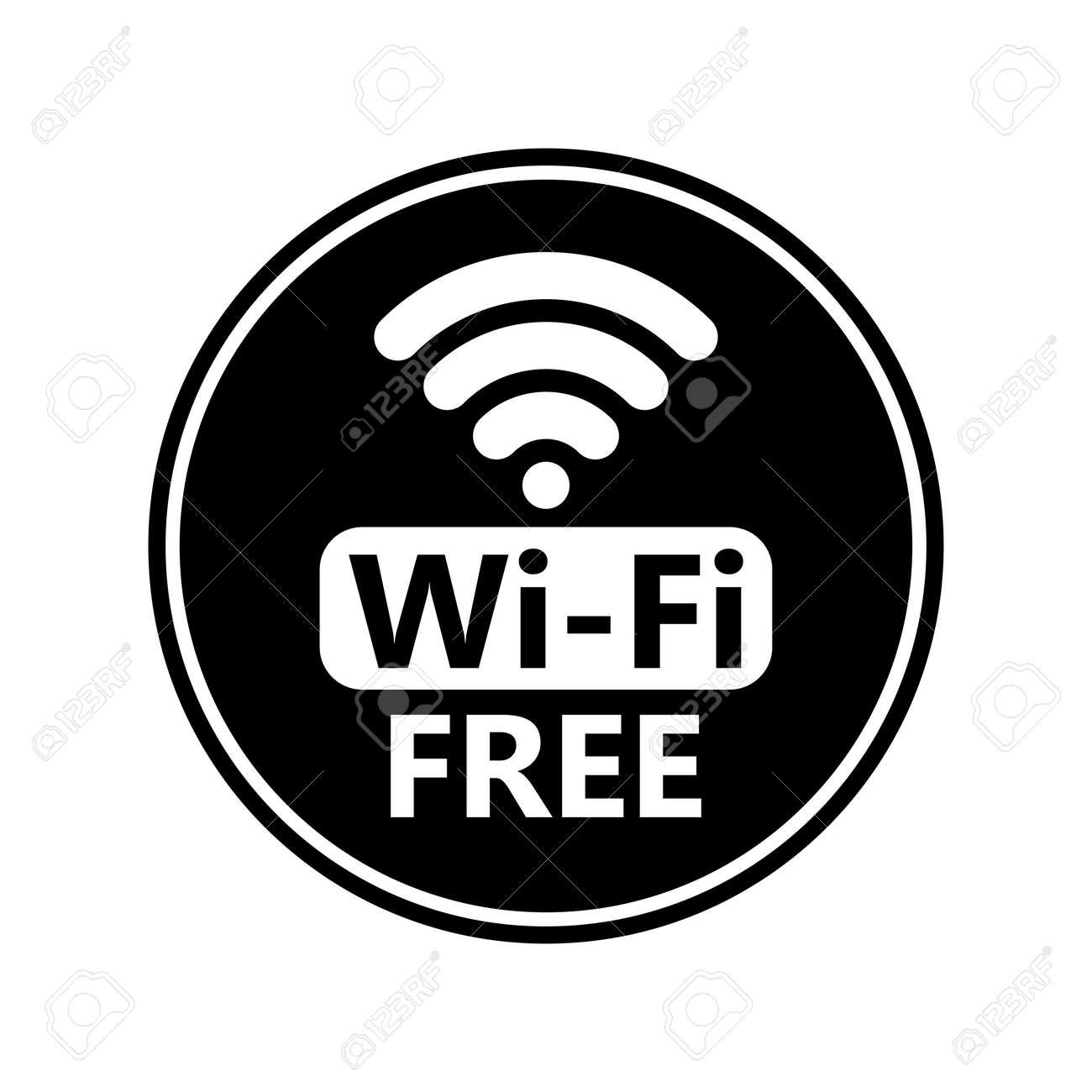 free wifi icon sticker vector black wifi sign wireless network rh 123rf com wifi icon vector png wifi icon vector free