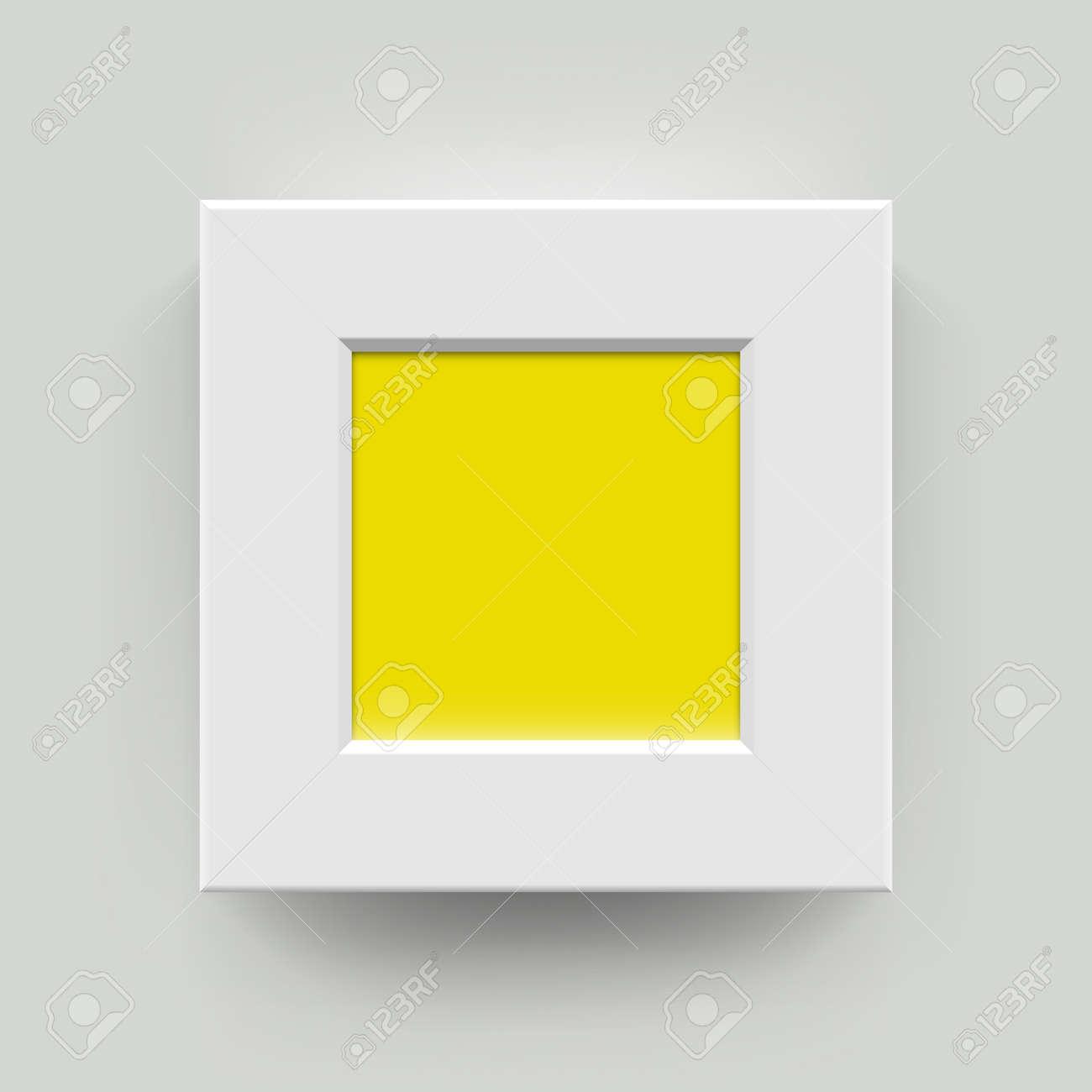 Marco Cuadrado De Imagen En Blanco Para Las Fotografías. Papel ...