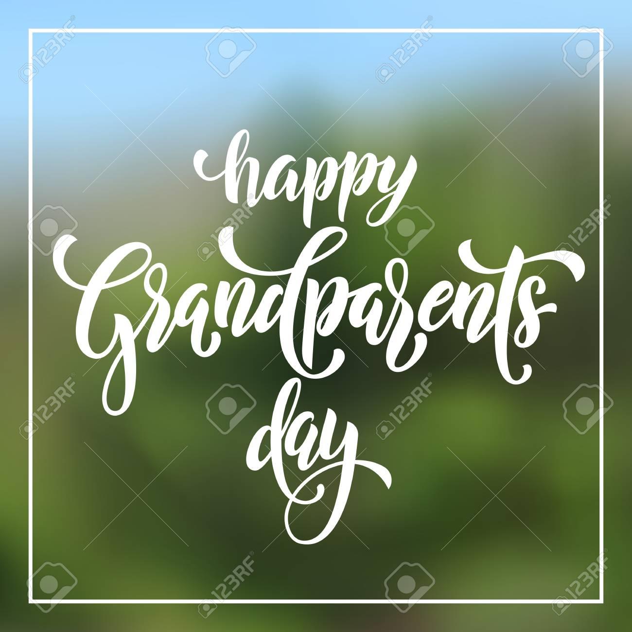 Glückliche Großeltern-Tagesklassische Beschriftung Für Großvater ...